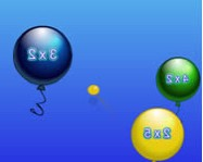 Balloon pop math online oktat� j�t�k